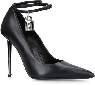 Tom Ford Leather Lock Ankle Pumps 105