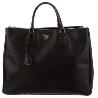 Prada Saffiano Lux Double-Zip Executive Tote