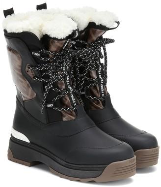 Fendi Ski shearling-lined rubber boots