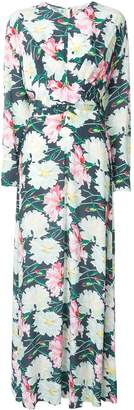 LAYEUR floral wrap dress