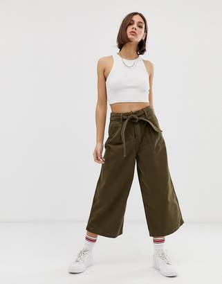 Tommy Jeans utility tie waist culottes