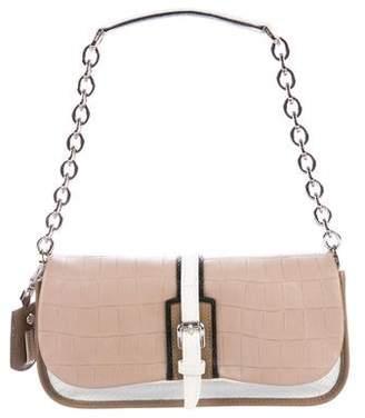 Longchamp Embossed Chain-Link Flap Bag