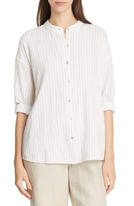 Eileen Fisher Organic Cotton Tunic Shirt