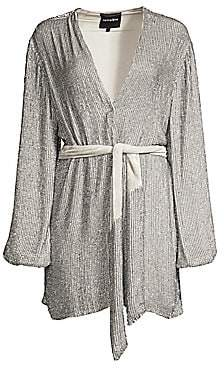 RetrofÃate Women's Gabrielle Sequined Wrap Robe