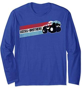 Diesel Brothers Red White Blue Stripe Truck Long Sleeve Tee