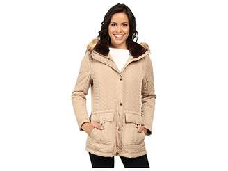 Jessica Simpson Quilted Anorak w/ Removable Hood and Faux Fur Women's Coat