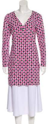 Diane von Furstenberg Reina Check Dot Tunic