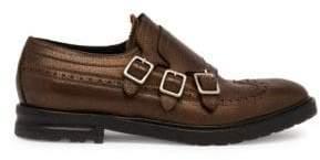 Alexander McQueen Leather Triple Monk Strap Shoes