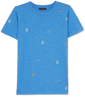 J.Crew Tossed Printed Slub Cotton-jersey T-shirt - Blue