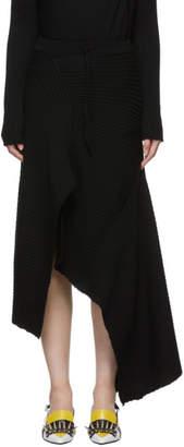 Marques Almeida Black Draped Skirt