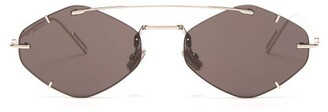 Christian Dior Sunglasses - Diorinclusion Round Frame Metal Sunglasses - Mens - Silver
