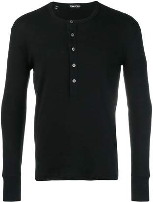 Tom Ford button placket T-shirt