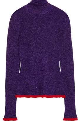 Missoni Metallic Crochet-knit Turtleneck Sweater