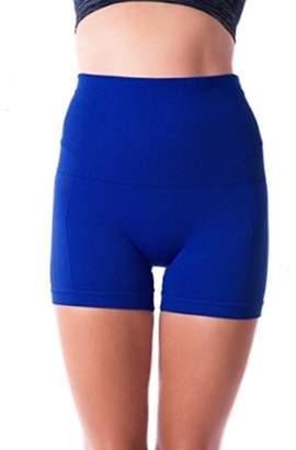 ±0 0 Higi Quality Comfortable Women Fitness Running Yoga Shorts Sports Mini Shorts - LARGE ROYAL