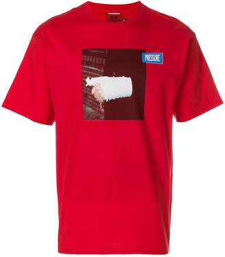 Pressure broken arm print T-shirt