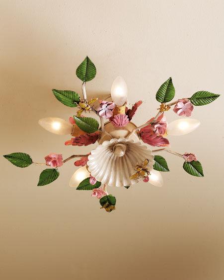 Bees & Flowers Ceiling Fixture