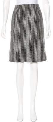Celine Wool Knee Length Skirt
