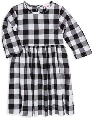 Smiling Button Little Girl's Buffalo Check Winnie Cotton Dress