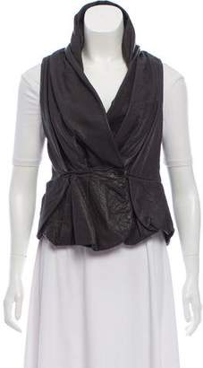 AllSaints Leather Wrap Vest