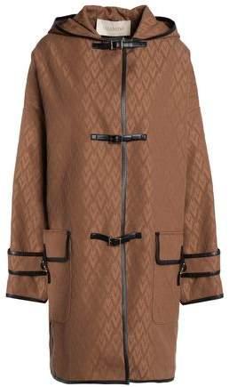 Cotton-Blend Jacquard Coat