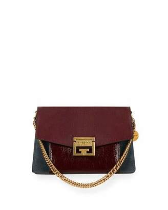 Givenchy GV3 Small Colorblock Stag Leather Satchel Bag