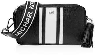 MICHAEL Michael Kors Small Striped Leather Camera Crossbody