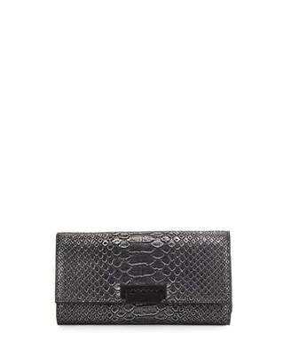 ZAC Zac Posen Eartha Embossed Faux-Leather Wallet, Silver $225 thestylecure.com