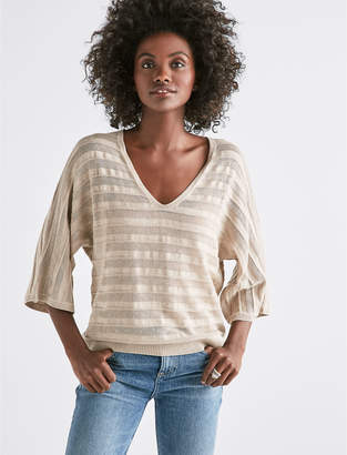 Lucky Brand MIX STITCH PULLOVER