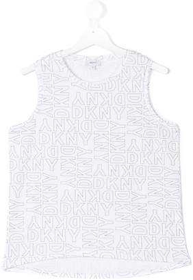 DKNY logo printed tank top