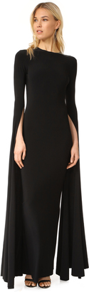 Norma Kamali Ribbon Sleeve Fitted Gown $395 thestylecure.com
