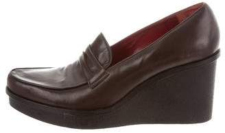 Robert Clergerie Leather Loafer Wedges