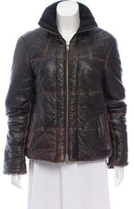 AllSaints Spitalfields Leather Jacket