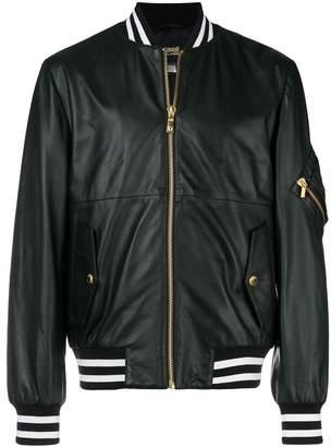 Class Roberto Cavalli back print bomber jacket