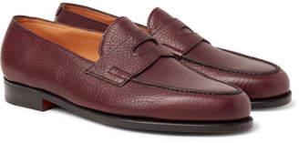 John Lobb Lopez Full-Grain Leather Penny Loafers - Men - Burgundy