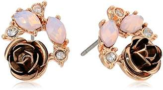 lonna & lilly Womens Rose Gold Cluster Stud Earrings