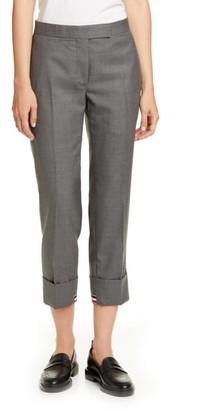 Thom Browne Straight Leg RWB Cuff Crop Trousers