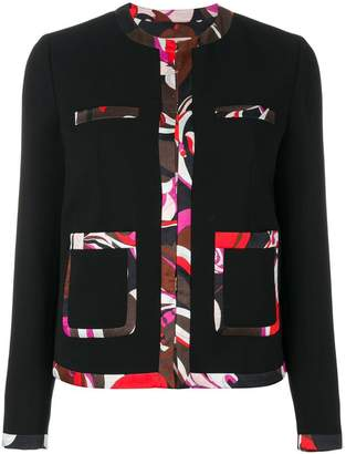 Emilio Pucci contrast-trim tailored blazer