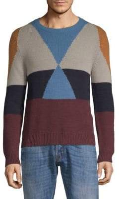 Valentino Colorblock Cashmere Jersey Sweater