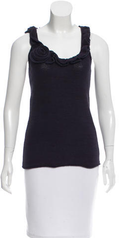 Marc By Marc JacobsMarc by Marc Jacobs Ruffle-Trimmed Sleeveless Top w/ Tags