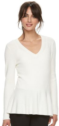 Women's ELLETM V-Neck Peplum Sweater $48 thestylecure.com