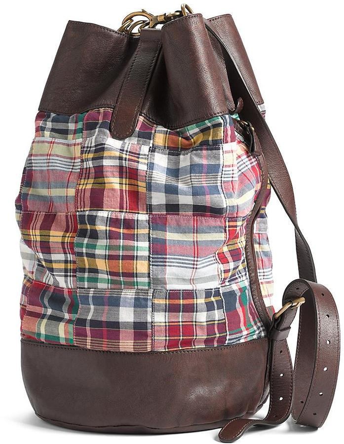 Cotton Madras Booksling Bag