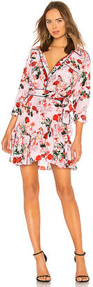 Marissa Webb Scarlet Silk Print Mini Dress