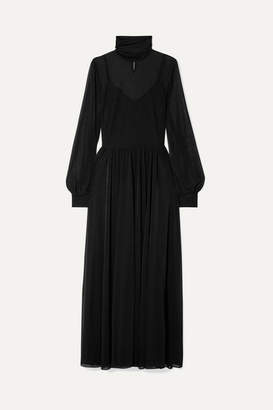 Diane von Furstenberg Jersey Turtleneck Maxi Dress - Black