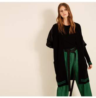 Amanda Wakeley Black Emerald Ribbed Cashmere Cardigan