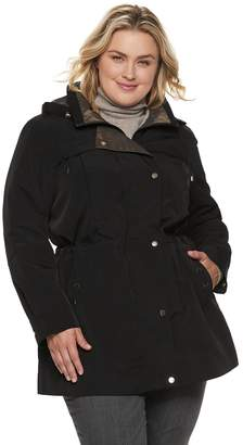 Gallery Plus Size Button Out Anorak Jacket