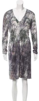 Yigal Azrouel Silk Abstract Print Dress w/ Tags