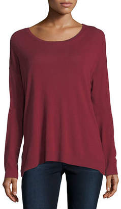 Neiman Marcus Majestic Paris for Cotton/Cashmere Long-Sleeve Crewneck T-Shirt