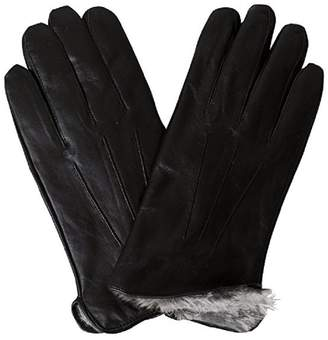 Bon Bonito Top Quality Men's Rabbit Fur Lined Genuine Soft Leather Gloves