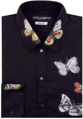 Dolce & Gabbana Butterfly Applique Shirt