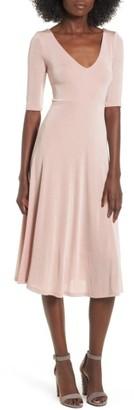 Women's Astr The Label Shine Cross Back Midi Dress $75 thestylecure.com